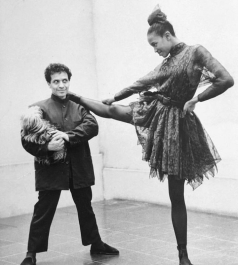 Naomi Campbell and Azzedine Alaia